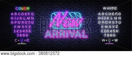 New Arrival Neon Sign Vector. New Collection Design Template Neon Sign, Light Banner, Nightly Bright