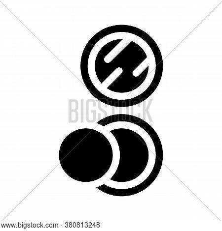 Puff Powder Glyph Icon Vector Illustration Isolated