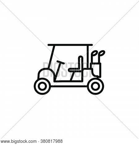 Golf Cart Icon Illustration Design