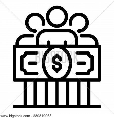Group Money Allowance Icon. Outline Group Money Allowance Vector Icon For Web Design Isolated On Whi