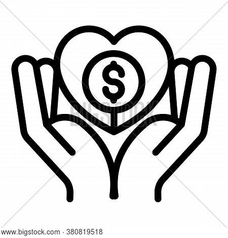 Care Allowance Money Icon. Outline Care Allowance Money Vector Icon For Web Design Isolated On White