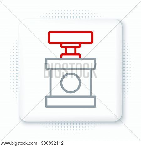 Line Handle Detonator For Dynamite Icon Isolated On White Background. Colorful Outline Concept. Vect