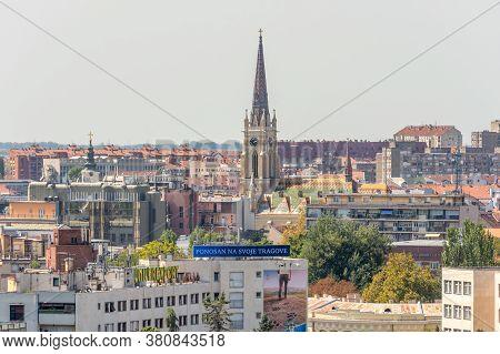 Novi Sad / Serbia - August 16, 2017: Cityscape Of Novi Sad, Second Largest City In Serbia And The Ca