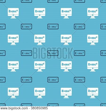 Set Equation Solution And Equation Solution On Seamless Pattern. Vector