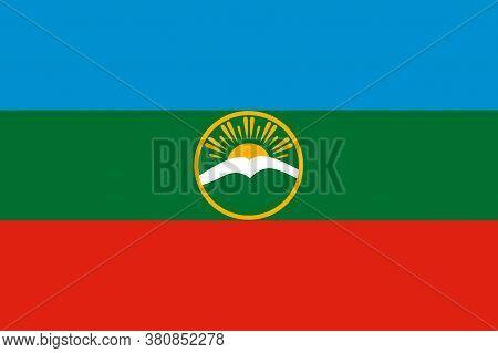Flag Of Karachay-cherkess Republic In Russia
