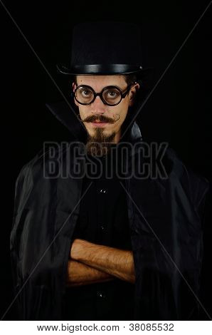 Evil Villain with top hat and cape poster