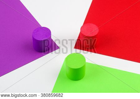 Colored Paper In Geometric. Bright Color Paper Texture Background. Trend Colors, Geometric Paper Bac