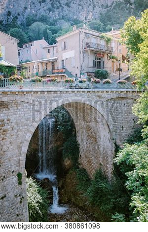 The Village Of Moustiers-sainte-marie, Provence, France June 2020