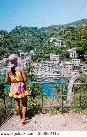 Portofino Italy June 2020, Portofino Famous Village Bay, Italy Colorful Village Ligurian Coast