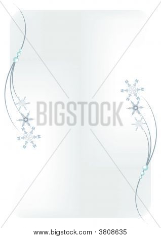 Abstract Snowflakes And Stars.