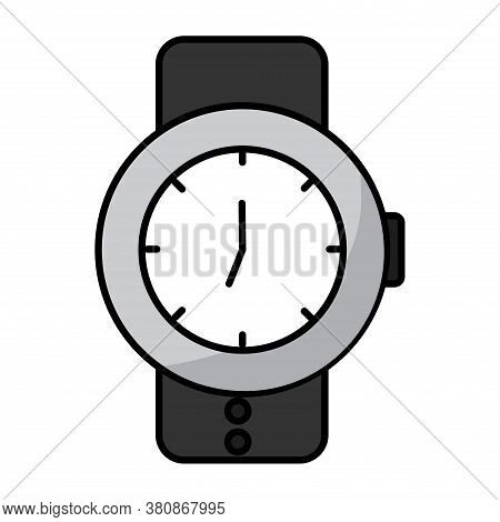 Isolated Wristwatch Icon. Technology Equipment - Vector Illustration