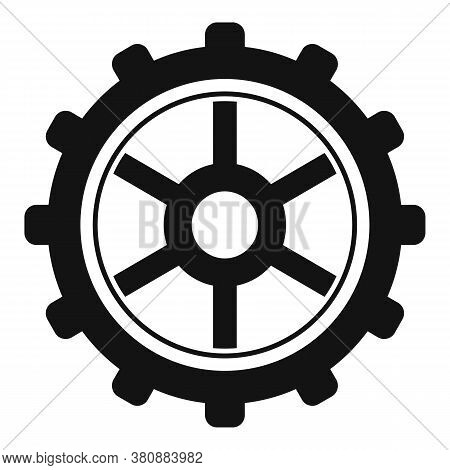Watch Cog Wheel Icon. Simple Illustration Of Watch Cog Wheel Vector Icon For Web Design Isolated On