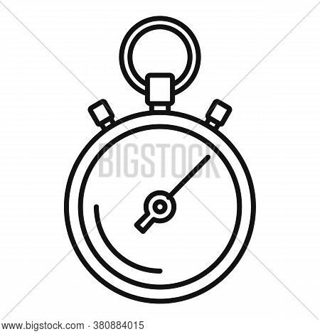 Stopwatch Repair Icon. Outline Stopwatch Repair Vector Icon For Web Design Isolated On White Backgro