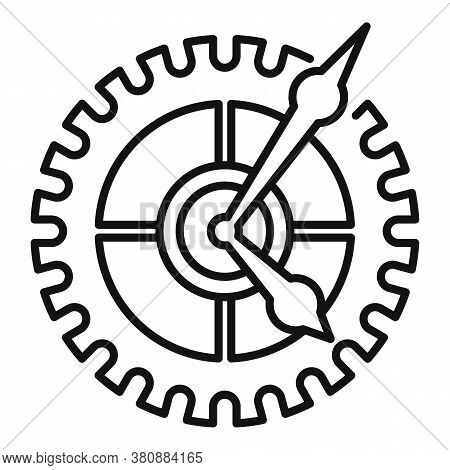 Parts Watch Repair Icon. Outline Parts Watch Repair Vector Icon For Web Design Isolated On White Bac
