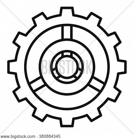 Watch Cog Wheel Icon. Outline Watch Cog Wheel Vector Icon For Web Design Isolated On White Backgroun