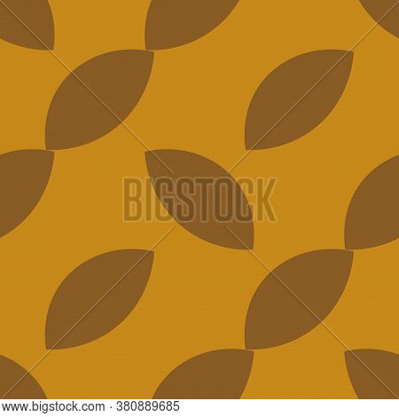 Abstract Seamless Pattern With Fantasy Uneven Geometric Shapes. Geo Background. Vector Illustration.