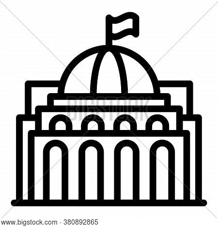 Travel Parliament Icon. Outline Travel Parliament Vector Icon For Web Design Isolated On White Backg