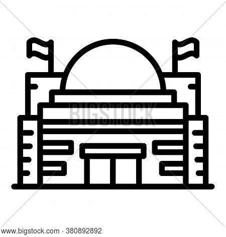 Budapest Parliament Icon. Outline Budapest Parliament Vector Icon For Web Design Isolated On White B
