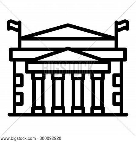 Sighseeing Parliament Icon. Outline Sighseeing Parliament Vector Icon For Web Design Isolated On Whi