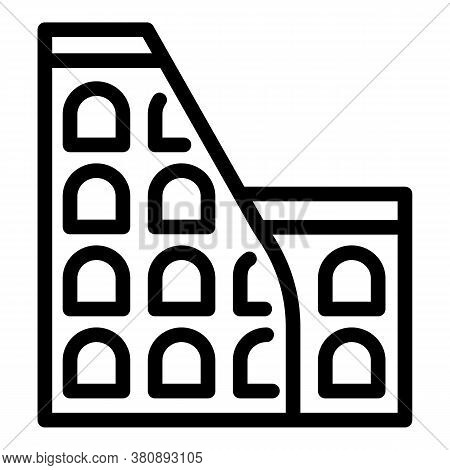 History Building Icon. Outline History Building Vector Icon For Web Design Isolated On White Backgro