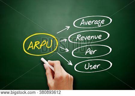 Arpu - Average Revenue Per User Acronym, Business On Blackboard