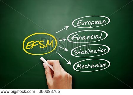 Efsm - European Financial Stabilisation Mechanism Acronym, Business Concept Background On Blackboard