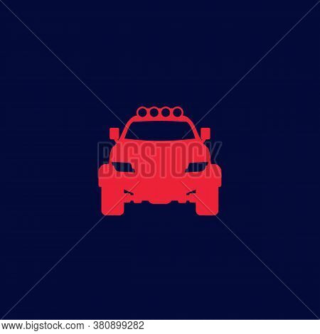 Off-road 4x4 Suv Icon, Eps 10 File, Easy To Edit