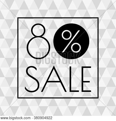 80% Sale Icon. Discount Banner With 80 Percent Price Off. Vector Illustration.