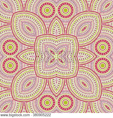 Beautiful Victorian Majolica Tile Seamless Pattern. Ethnic Geometric Vector Patchwork. Bedcover Prin