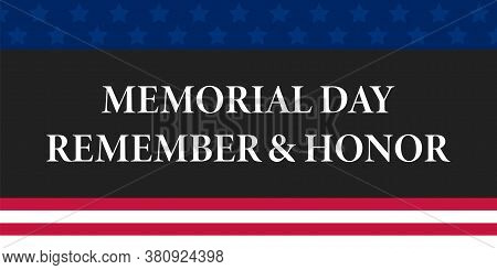 Happy Memorial Day Banner. Vector Isolated Element. Eps 10.