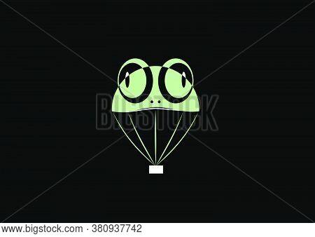 Frog Blimps Logos On A Black Background In Vector Illustration