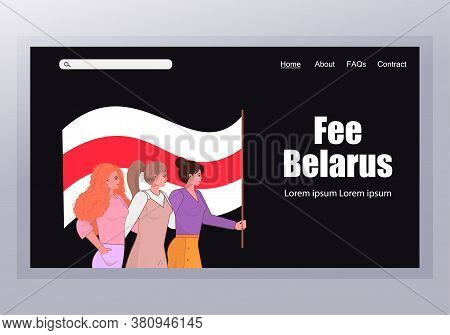 Free Belarus Concept. Protest Banner About Human Righ Right People Of Belarus. Protest After Preside