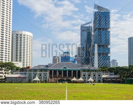 Singapore - January 24, 2016: Singapore Recreation Club On The Padang In The Heart Of The City