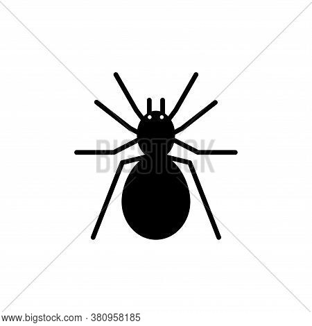 Scary Spider Bug Icon Glyph Style For Your Web Design