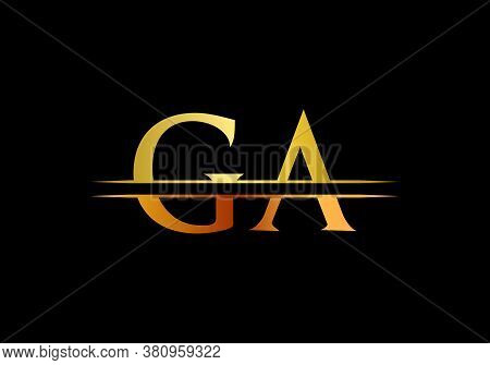 Ga Logo Vector Template. Ga Letter Linked Logo For Business And Company Identity.