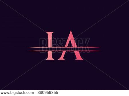 Ia Letter Linked Logo For Business And Company Identity. Creative Letter Ia Logo Vector Template.