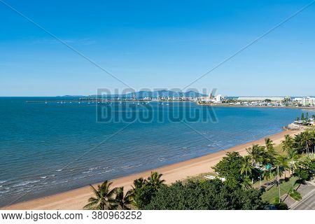 The Strand Tropical Beach And Port In Townsville, North Queensland, Australia