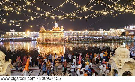 The Golden Temple Or Harmandir Sahib Or Darbar Sahib Gurdwara, The Religious Preeminent Holy Spiritu
