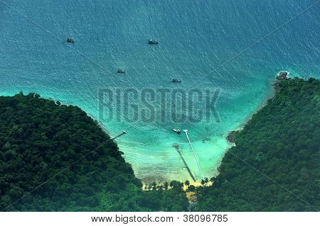 Above Thai sea