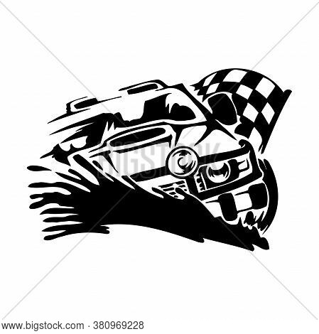 Off-road Car Club Classic Design Element Emblem Logo 4x4 Silhouette