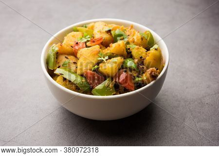 Aloo Shimla Mirch Sabji Or Dry Potato Capsicum Curry Is An Indian Main Course Recipe