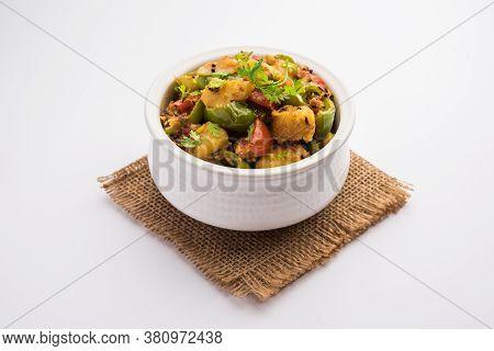 Aloo Shimla Mirch Sabji Or Dry Potato Capsicum Curry Is An Indian Main Course Recipe