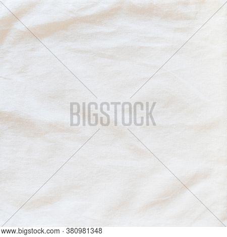 Beige White Cotton Muslin Cloth Texture Background Burlap Natural Lightweight Fabric Textile For Wal