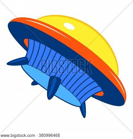 Ufo Ship Icon. Cartoon Of Ufo Ship Vector Icon For Web Design Isolated On White Background