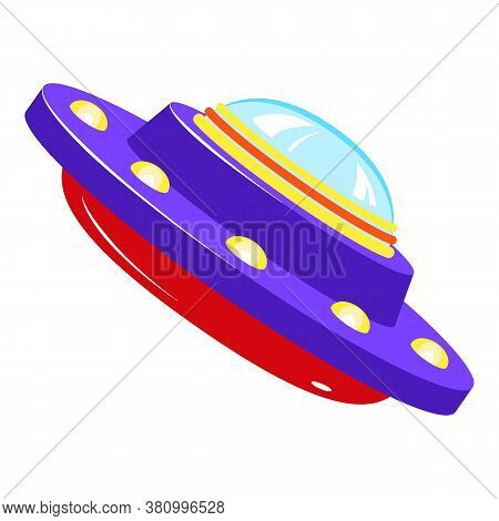 Paranormal Ufo Icon. Cartoon Of Paranormal Ufo Vector Icon For Web Design Isolated On White Backgrou
