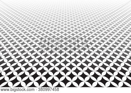 Geometric pattern in diminishing perspective. Abstract textured background.