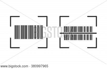 Realistic Barcode. Barcode Icon. Vector Illustration. Esp 10.