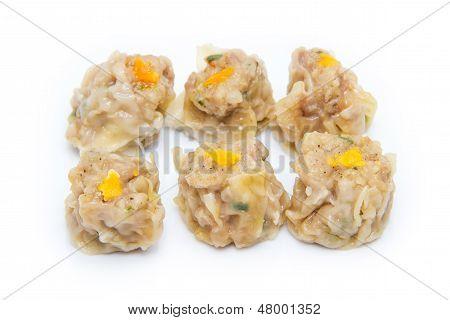 Dumpling On White Background