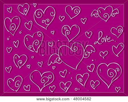 Cute Love Valentine Day's Hearts