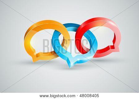 Vector speech rings symbol illustration.